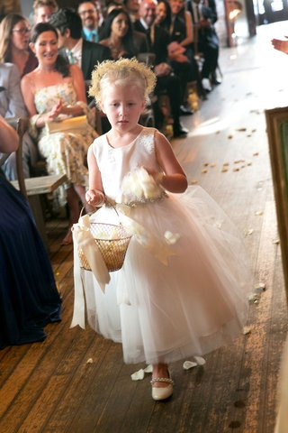 brittany-daniel-wedding-ceremony-flower-girl-flower-crown-white-dress-basket-white-flower-petals