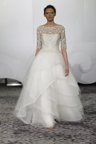 rivini-dawne-a-line-wedding-gown-with-an-illusion-neckline-three-quarter-sleeves-and-embroidery