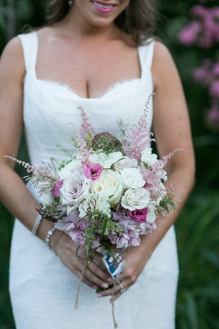 small-unstructured-wedding-bouquet-with-white-rose-pink-rose-and-greenery
