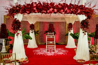 indian-wedding-canopy-with-lotus-flower-painting