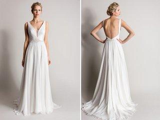 sheath-wedding-dress-with-deep-v-and-low-back