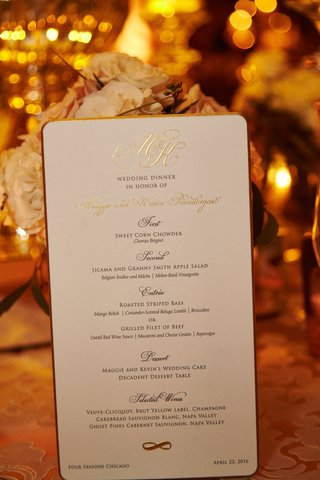 wedding-reception-black-tie-menu-gold-border-and-monogram-three-courses-plus-dessert-wedding-cake