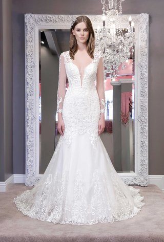 winnie-chlomin-2016-long-sleeve-wedding-dress-with-illusion-plunging-neckline-and-lace-details
