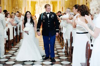 bride-and-groom-wedding-recessional-with-guests-in-all-white