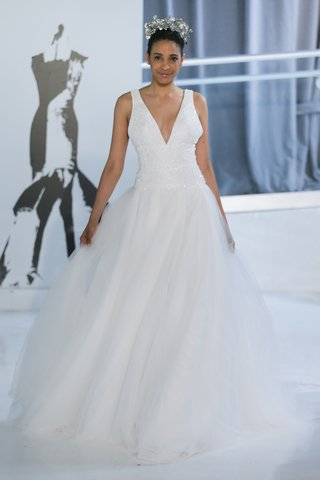 crystal-by-peter-langner-spring-2018-ball-gown-with-an-embroidered-deep-v-neckline-full-tulle-skirt