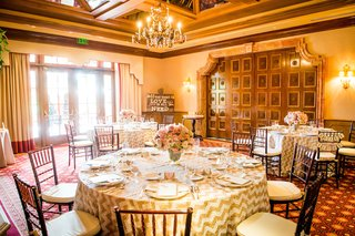 wedding-shower-at-amaya-restaurant-the-grand-del-mar-with-chevron-ivory-gilded-tablecloths