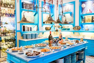 il-riccio-beach-club-restaurant-temptations-room-dessert-spread-in-capri-italy