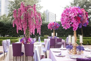 wedding-reception-in-garden-of-the-ritz-carlton-dallas-with-purple-linens-centerpieces