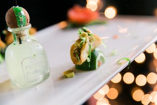 wedding-reception-appetizer-patron-bottle-and-taco-on-top-of-lime