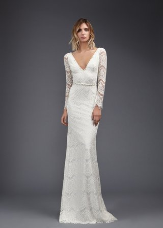 victoria-kyriakides-spring-2017-faye-v-neck-long-sleeve-lace-wedding-dress-boho-bridal-gown