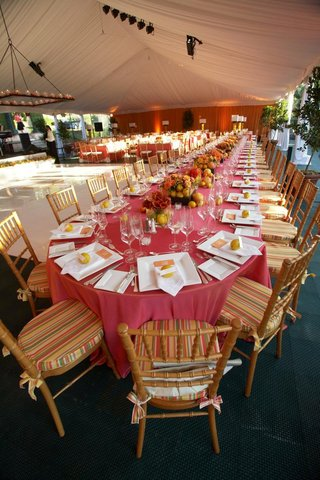 white-tented-wedding-reception-with-colorful-tables