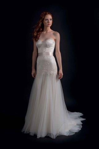 modern-trousseau-fall-2016-drop-waist-strapless-wedding-dress