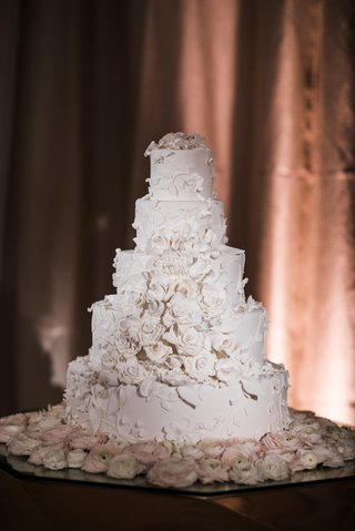 wedding-cake-five-layer-white-cake-with-flower-appliques-sugar-flowers-like-bridal-gown-wedding-dres
