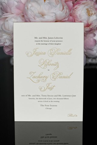 gold-calligraphy-on-simple-formal-wedding-invitation-on-white-stationery