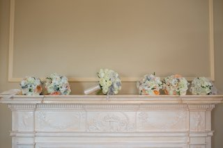 brides-bouquet-of-white-roses-and-brooches-and-bridesmaid-bouquets-of-peonies-hydrangeas-and-roses