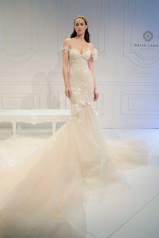 le-secret-royal-bridal-collection-galia-lahav-off-shoulder-flower-detail-mermaid-wedding-dress-train