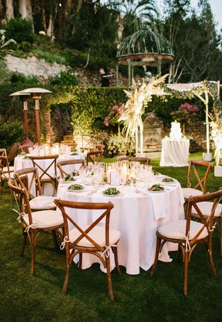 wedding-reception-outdoor-venue-the-houdini-estate-wood-vineyard-chairs-vegetarian-dinner-cake