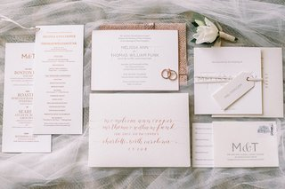 wedding-invitation-suite-with-rose-gold-calligraphy-and-envelope