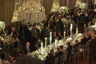 birds-eye-view-of-guests-eating-at-dinner-service