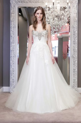 winnie-chlomin-2016-spaghetti-strap-wedding-dress-with-a-line-skirt-and-beaded-bodice