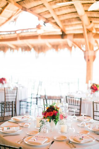 simple-white-tablescapes-with-pop-of-color-in-red-yellow-pink-and-green-floral-centerpiece