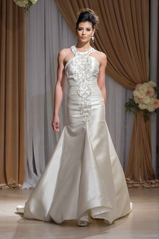 jean-ralph-thurin-fall-2016-trumpet-wedding-dress-with-beaded-halter-neckline
