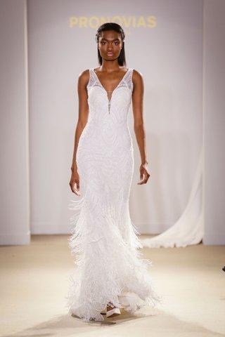 atelier-pronovias-2019-bridal-collection-wedding-dresses-v-neck-beaded-fringe-bridal-gown