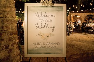 wedding-welcome-sign-with-watercolor-at-the-top-and-bottom-and-floral-details