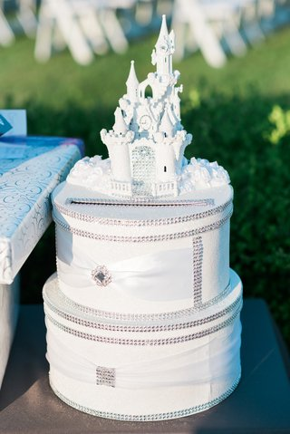 two-tier-card-box-with-rhinestones-with-white-castle-on-top