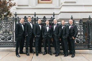 groom-in-hugo-boss-tuxedo-with-groomsmen-in-tuxedos