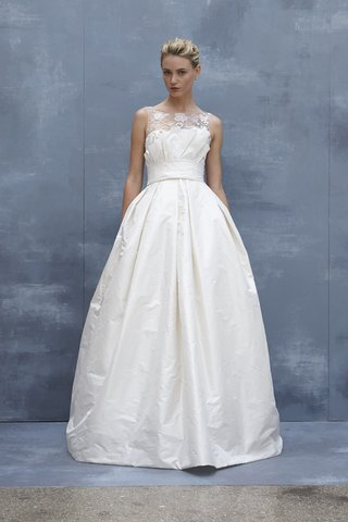 amsale-fall-2018-silk-taffeta-ball-gown-with-hand-beaded-illusion-neckline-and-ruffle-belt