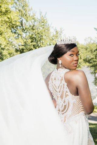 bride-ghana-african-royalty-in-jewel-beaded-gown-couture-veil-updo-earrings-tiara-headpiece