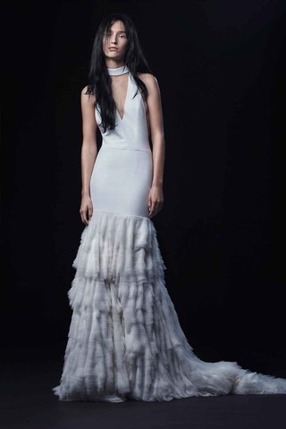 vera-wang-bride-fall-2016-racer-back-collared-wedding-dress-with-tier-skirt-and-v-neck