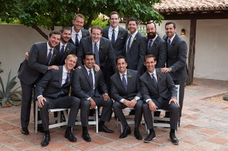 wedding-party-groomsmen-at-la-quinta-resort-and-club-in-grey-suits-and-blue-ties-for-outdoor-wedding