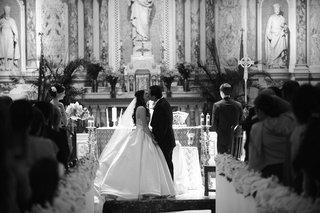 black-and-white-photo-of-gesu-catholic-church-wedding