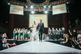 bride-and-groom-on-catwalk-at-belasco-theater