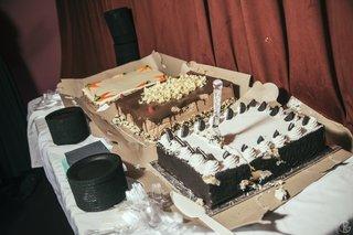 carrot-cake-chocolate-cake-and-oreo-cake-at-wedding