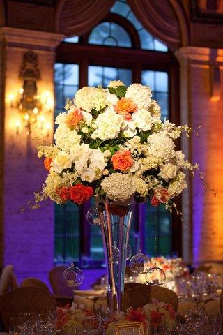 white-and-orange-flower-wedding-centerpiece