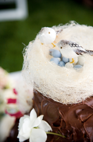 chocolate-wedding-cake-with-avian-theme