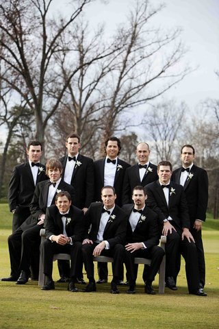 men-in-tuxedos-and-bow-ties-on-golf-course