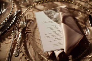 menu-with-wedding-monogram-on-beaded-charger