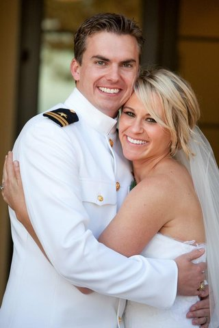 navy-pilot-in-dress-whites-and-loose-bridal-updo