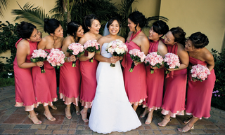 hot-pink-and-light-pink-jenny-yoo-gowns