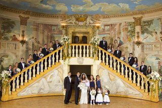 wedding-party-on-the-pierre-staircase-with-painted-walls