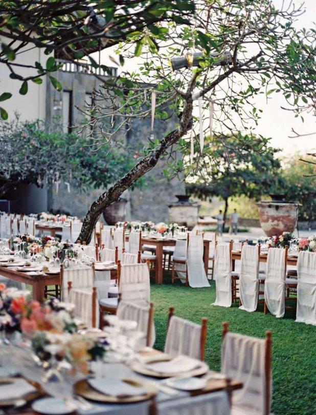 Outdoor Destination Wedding Décor