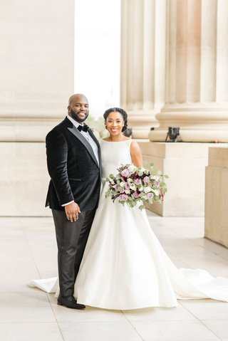 Portia Wills and Jeffrey Raphael wedding photo in washington dc andrew mellon auditorium