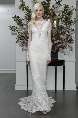 white-lace-dress-with-long-sleeves-and-deep-vneck