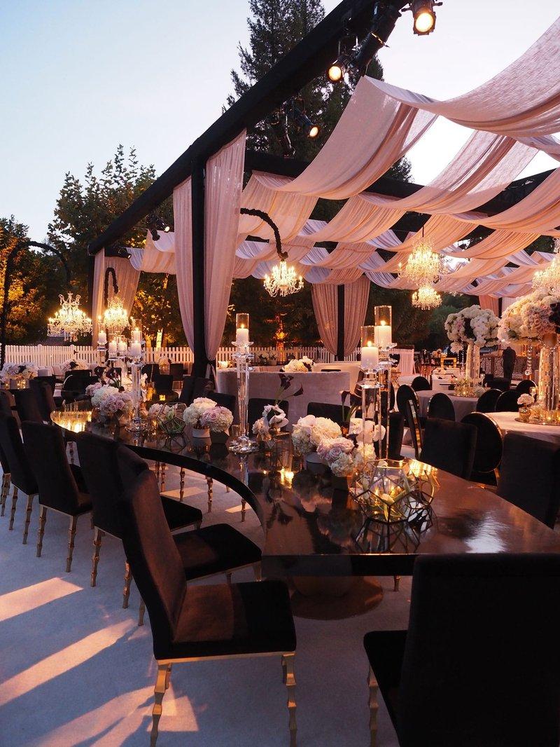 Luxurious Outdoor Wedding Reception