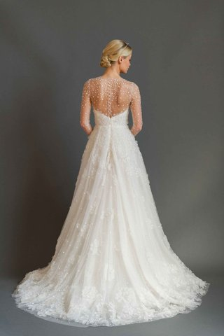 sabrina-dahan-2016-back-of-illusion-long-sleeve-wedding-dress-with-beading-and-flower-appliques