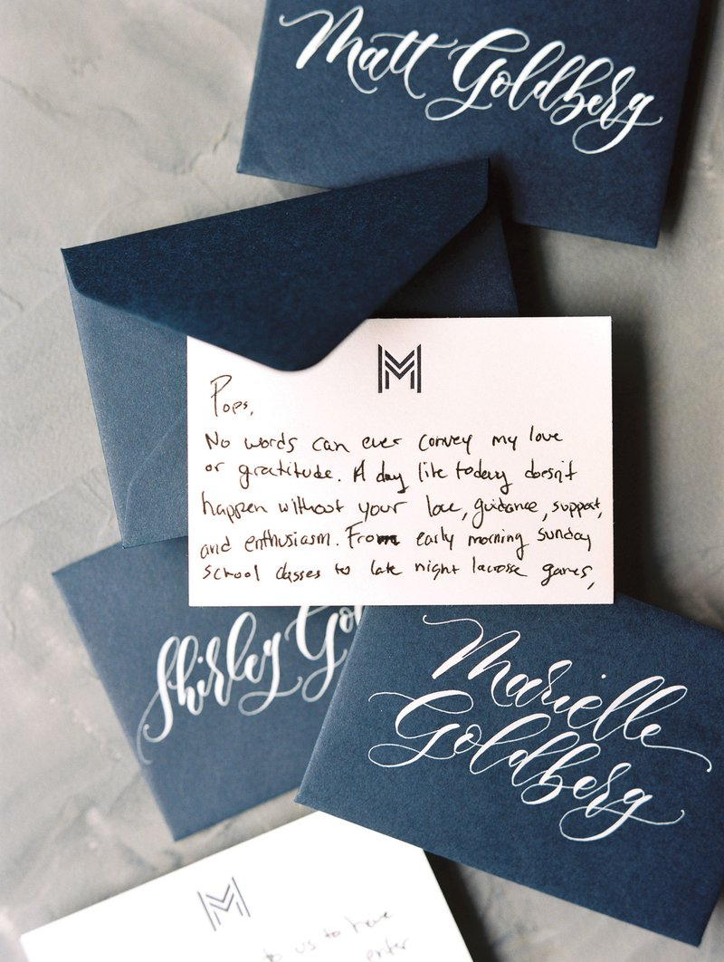 Personalized Note to Wedding Guest